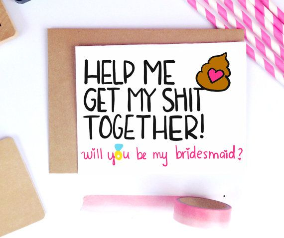 Funny Bridesmaid Proposal Funny Bridesmaid Card by LailaMeDesigns