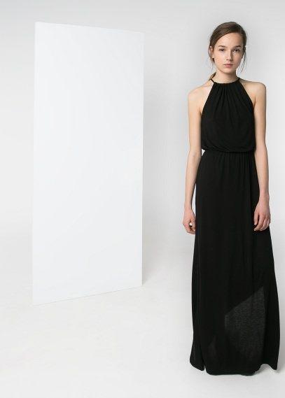 Vestido largo halter | MANGo