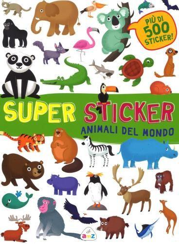 #Animali del mondo. super sticker. con adesivi edizione Amz  ad Euro 5.86 in #Amz #Libri gialli narrativa gialli