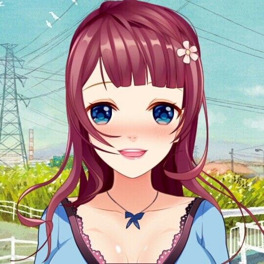 Anime girl  (You can make a anime girl whith a app cald Avatar maker)