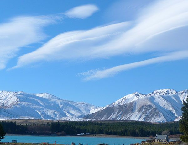 I just adore this pic! Can you spot the tiny church? #Tekapo #NewZealand