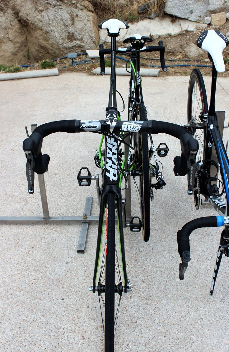 Maarten Wynants' Giant Propel SL0 - The Propel's tiny frontal profile means there's not much to see up here. Note the sleek hourglass headtube, which has a 1-1/8
