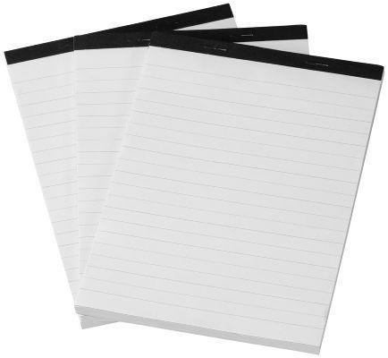 Muistilehtiö, 3:n pakkaus A5 2,29 e, nää sopii hyvin kirjepaperiksikin kun molemmin puolin on viivat