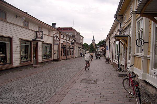 Rauma, Finland.  http://www.worldheritagesite.org/sites/oldrauma.html