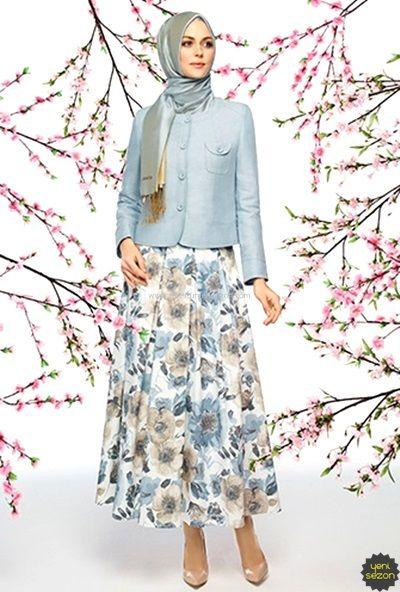 Çiçekli Etek Ceket
