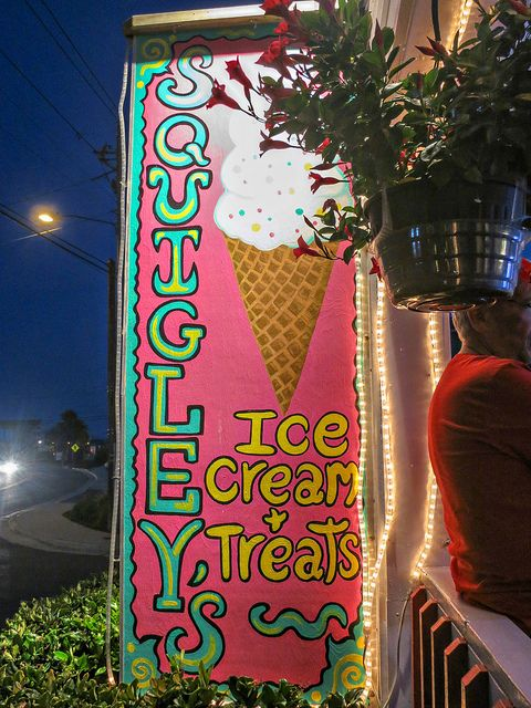 """Squigley's Ice Cream, Carolina Beach, NC. It is a CB institution! No trip is complete without being """"Squigled""""!"""