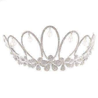 MagiDeal Nupcial De La Boda Del Partido Del Baile De Cristal De Diamante De Imitación Tiara De La Corona