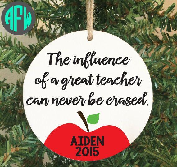 Teacher Ornament Teacher Gift Teacher by AFWifeCreations on Etsy