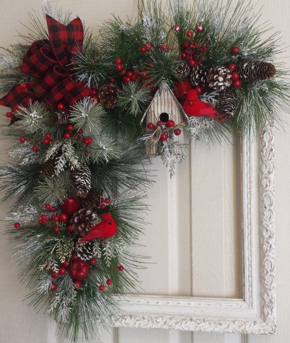 Guirnalda de Navidad marco por ShabbyBrookCottage en Etsy