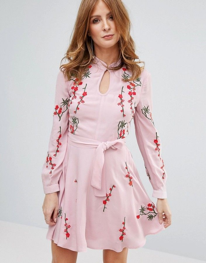 Millie Mackintosh Pink Embroidred Dress