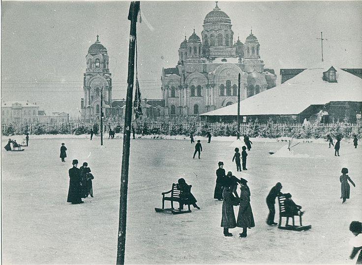 Иркутск, Каток на Тихвинской площади, 1900е: