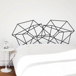 Stockholm - zelfklevend hoofdeinde boven je bed... leuk idee!