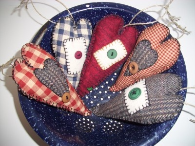 Primitive Rustic Country Christmas Ornaments  by:-myrnaneal