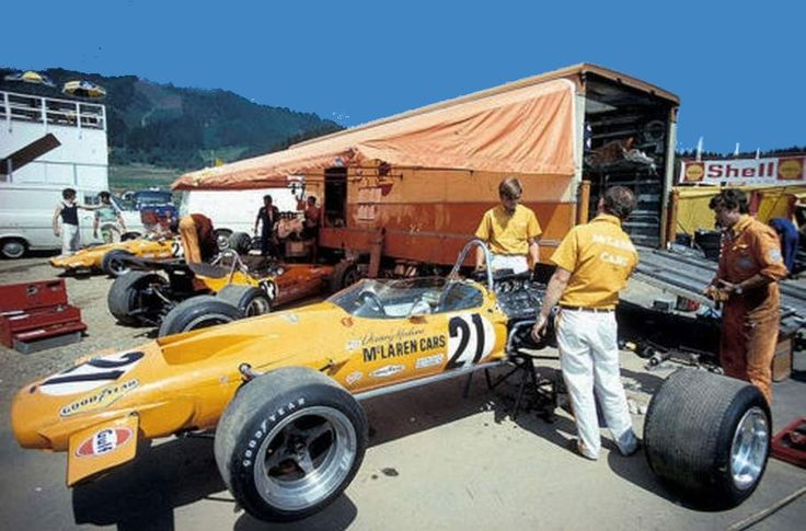 McLaren Team Garage Austrian Grand Prix 1970