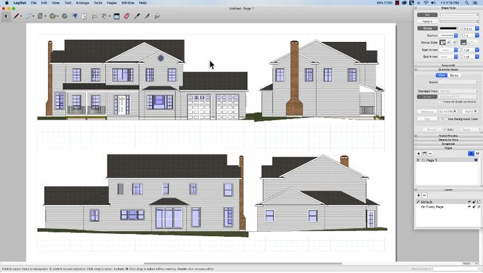 Sketchup Is Applied To Make Scenes And Styles To Arrange A Model