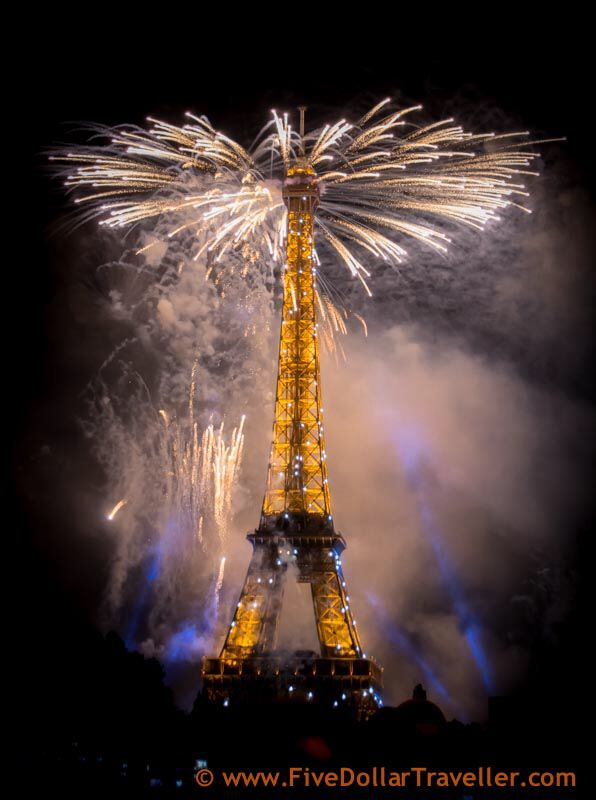 bastille day fireworks from sacre coeur