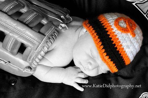 Baltimore Orioles hat, crochet Orioles retro baseball hat, custom size!