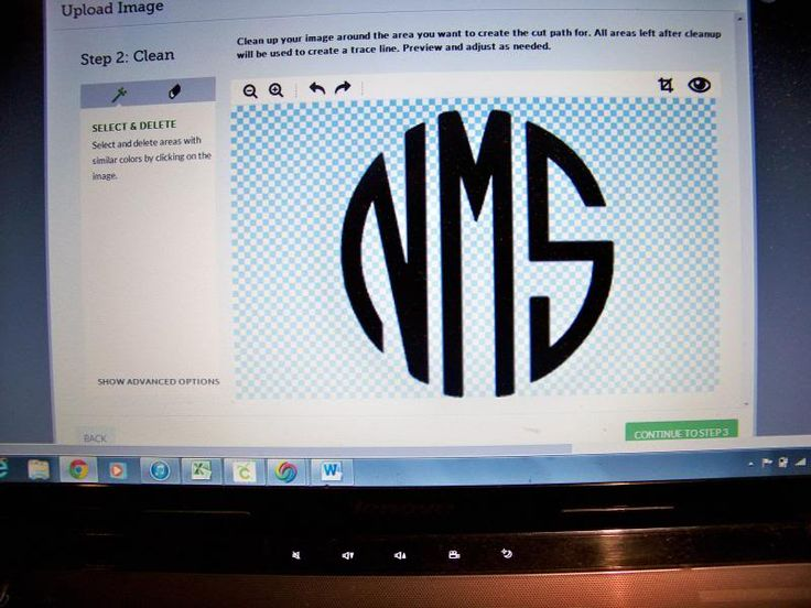 Creating your own Cricut Explore Monogram. Explore:Snipping .png Files
