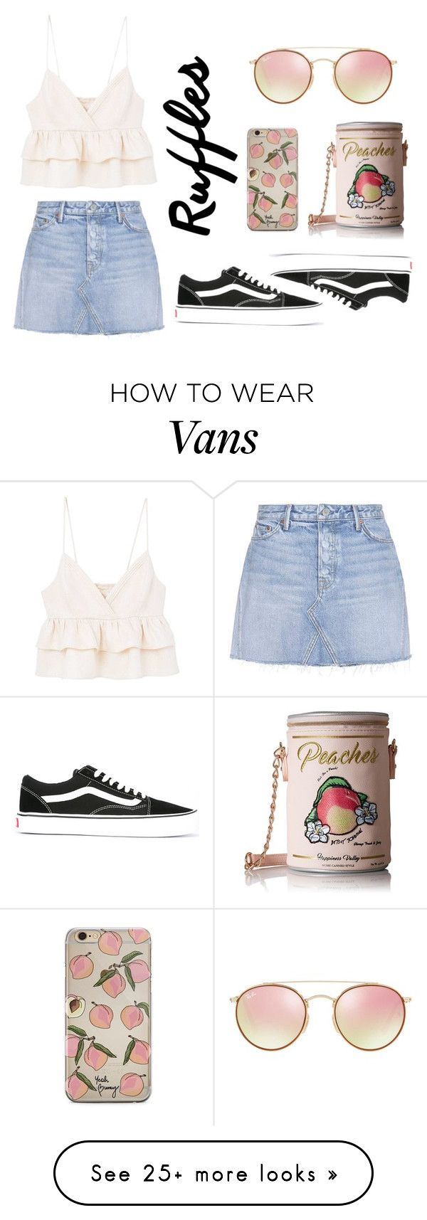 """Untitled #404"" by fashioncoolture on Polyvore featuring MANGO, GRLFRND, Vans, Betsey Johnson and Ray-Ban"