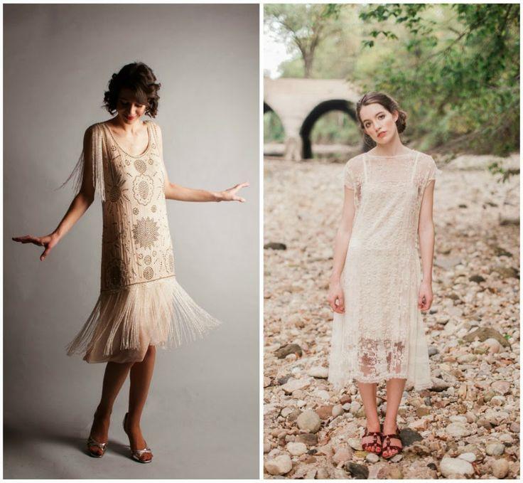 P E T R O N I A L O C U T A: Invitadas bodas: inspiración años 20. Vestidos flapper vintage y modernos.