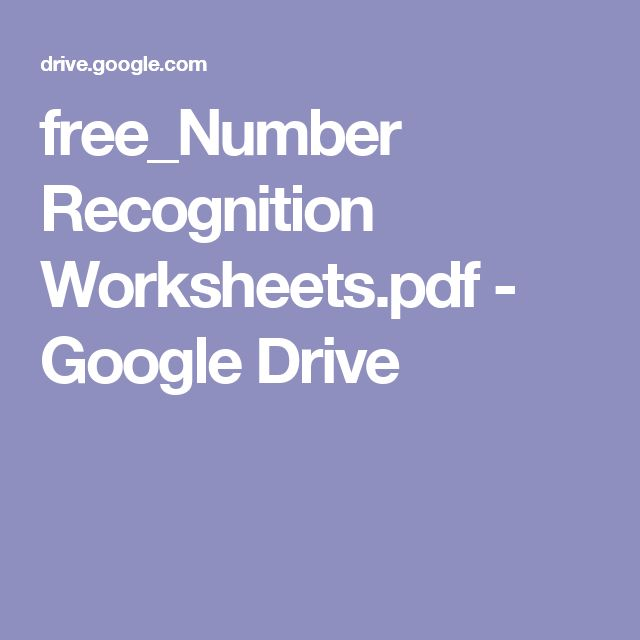 free_Number Recognition Worksheets.pdf - Google Drive