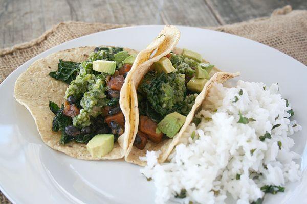 Recipe: Black Bean, Sweet Potato, and Kale Tacos with Cilantro Lemon ...