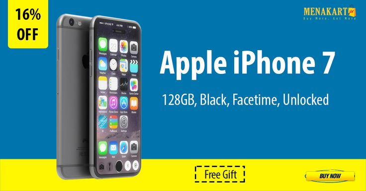 Shop for Apple iPhone 7 - 128GB, Black, Facetime, Unlocked Online #Apple #iPhone7 #Online #Shopping #Menakart #AppleiPhone7