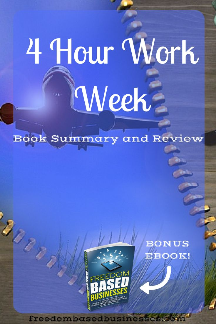 Learn more about the 4 hour work week by reading this summary and book review!