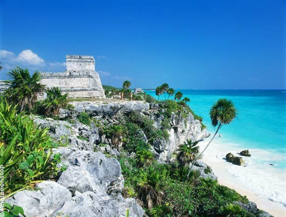 """Tulum, Mexico ..... The place of an ancient """"light house"""" which guides through a reef entrance..."""