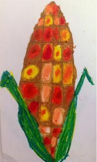 """Art With Mr. E: """"Corn""""dinsky Corn Ears"""