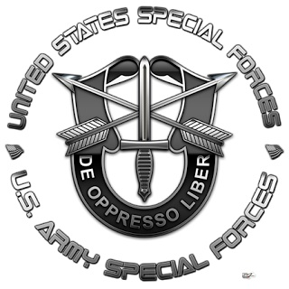 Army special forces. My husband was in the special forces. he lost his leg in Vietnam  but he still had great love for our country. Hello you lost one of his legs, that didn't stop him from enjoying life.