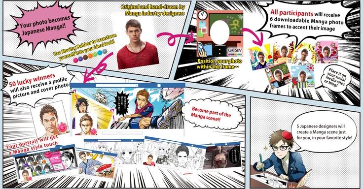 GATSBY × Manga Designers Lab Pirtrait Campaign