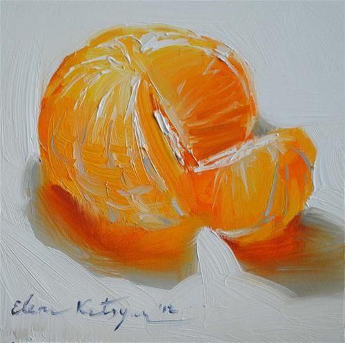 """Citrus Delight"" - Original Fine Art for Sale - © Elena Katsyura"