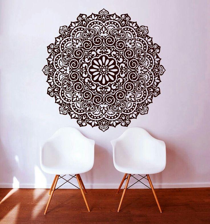 stickers pour chambre ou salle de bain stickers muraux vinyle autocollant art dcor mandala menhdi - Salle De Bain Decoration Indienne