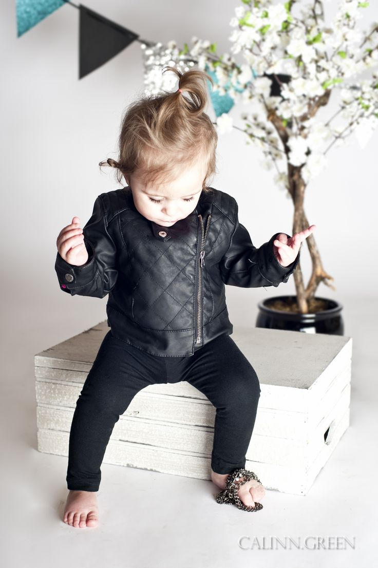Leather jacket for baby