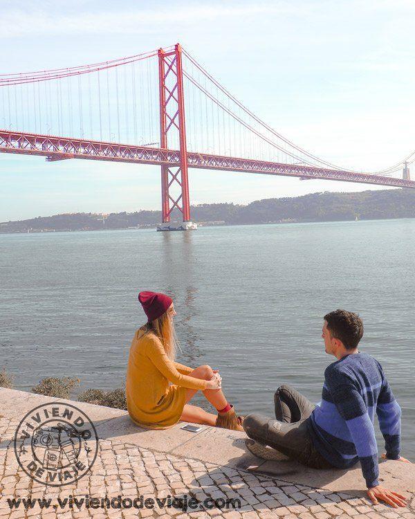 Vistas Del Puente 25 De Abril Lisboa Lisboa Puente Golden Gate Castillo De San Jorge
