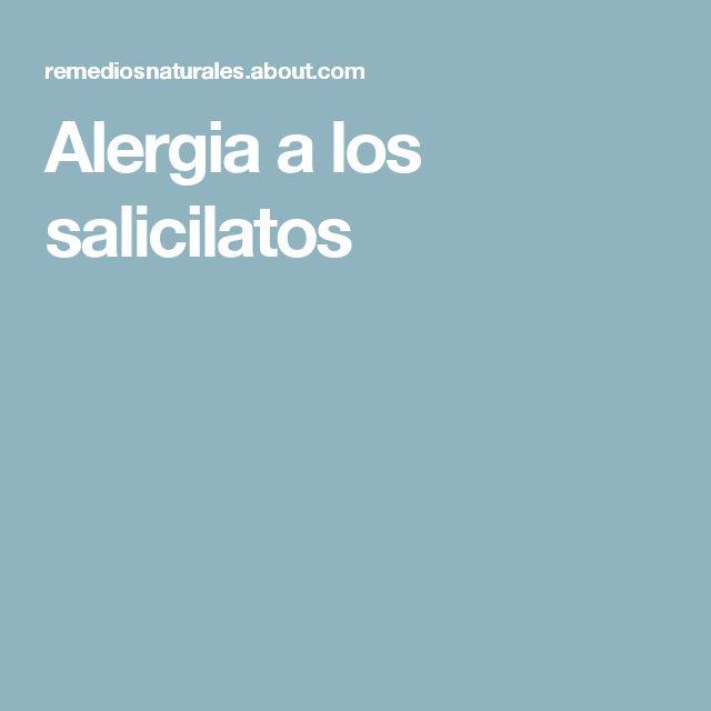 Alergia a los salicilatos