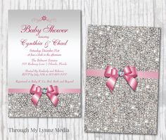 Check out this item in my Etsy shop https://www.etsy.com/listing/261455507/bling-baby-shower-invitations-diamond