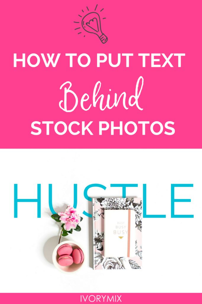 How to place text under objects in a Photo