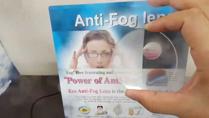 half antifog lens