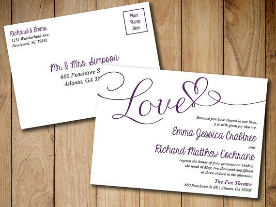 25+ Ide Postcard Wedding Invitation Terbaik Di Pinterest