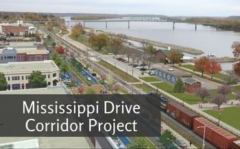 The Mississippi Drive Corridor Project is a plan to restructure the 1.6 miles of U.S. 61-Business. The overhaul of the area will include road and curb/gutter, street lighting, landscaping, gateway features, pedestrian crossings, sidewalk improvements, traffic signals, geometric improvements, storm drainage improvements, and road embankment work intended to improve flood protection.  #Muscatine #MississippiDrive