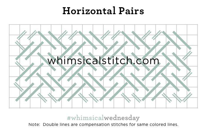 #smallspacesunday Horizontal Pairs from October 2, 2016 whimsicalstitch.com/whimsicalwednesdays blog post.