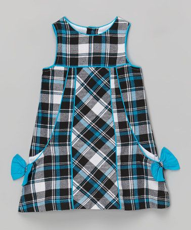 Another great find on #zulily! Blue Plaid Side-Bow Dress - Infant & Toddler #zulilyfinds