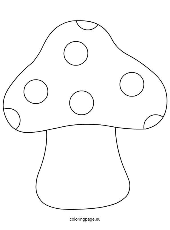 Printable Mushroom Shape Template