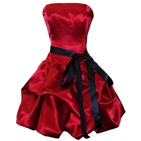 images of red and black bridesmaid dresses - Google Search