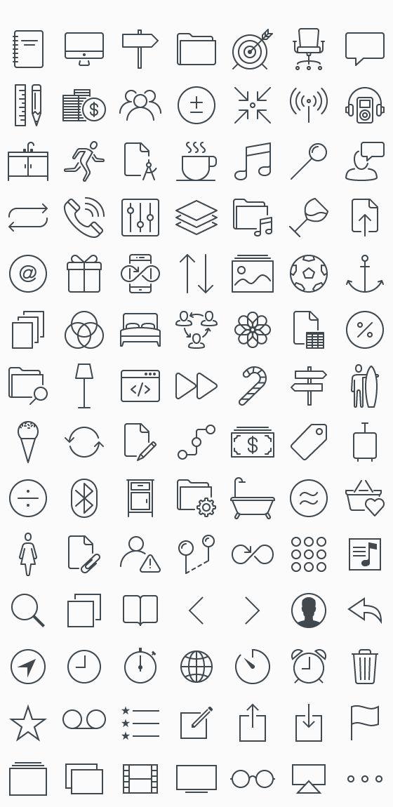 100 free iOS 7 & iOS 8 icons