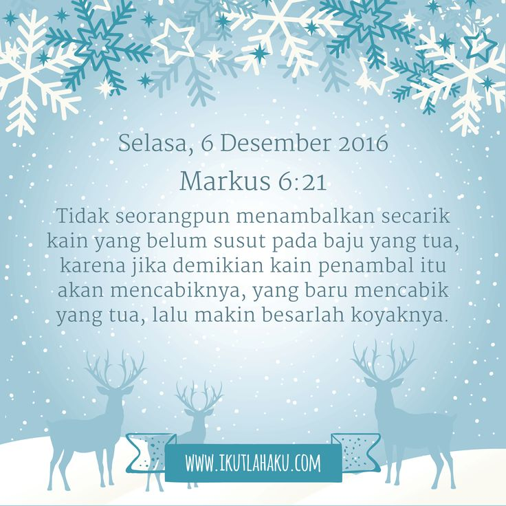 Renungan Hari Selasa 6 Desember 2016