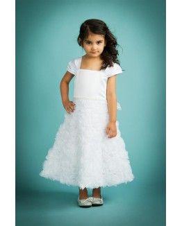 Elegant Full Rosette Skirt Sleeve Dress