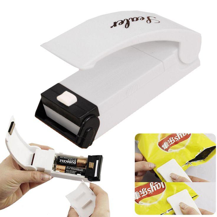 1 pc Portabel Kantong plastik Klip Tas Panas Mesin Penyegel Reseal Simpan Berguna Food Saver Storage Bag Sealer Jauhkan Makanan segar